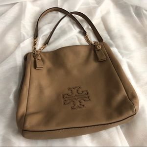 Large Camel Tory Burch Tote